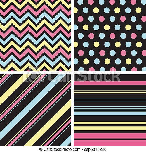 mønstre, fabric, seamless, textu - csp5818228