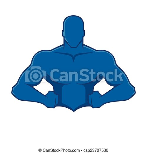 Figura de hombre musculoso - csp23707530