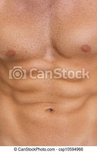 músculos abdominais, closeup - csp10594966