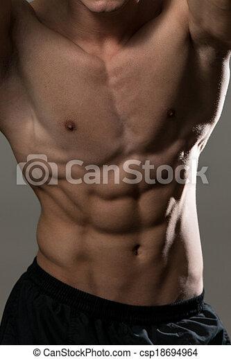 músculos, abdominal - csp18694964