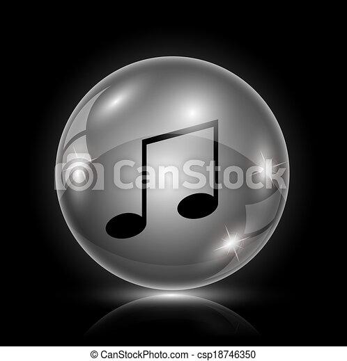 música, ícone - csp18746350