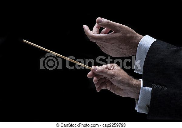 música, conductor - csp2259793