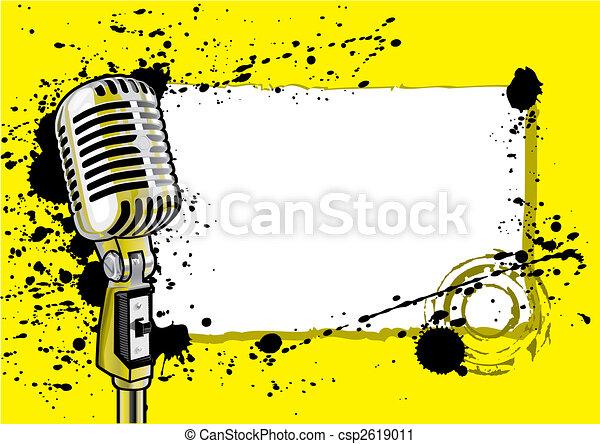 música, desenho, evento, (vector) - csp2619011