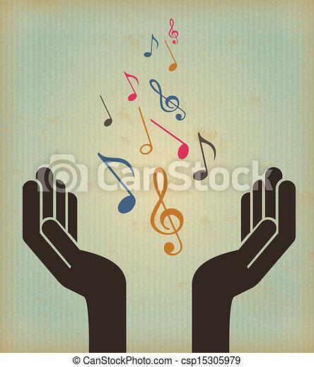 música, desenho - csp15305979