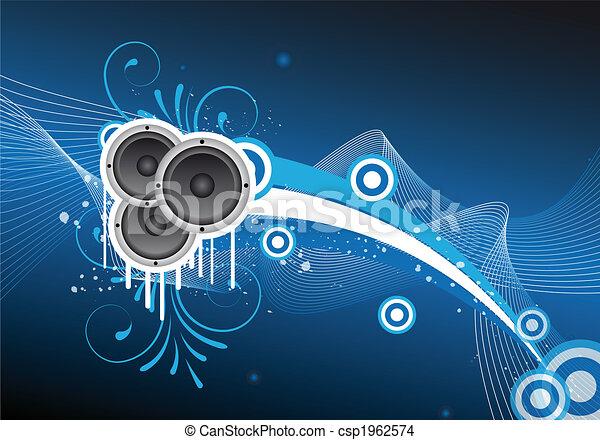música, diseño abstracto - csp1962574