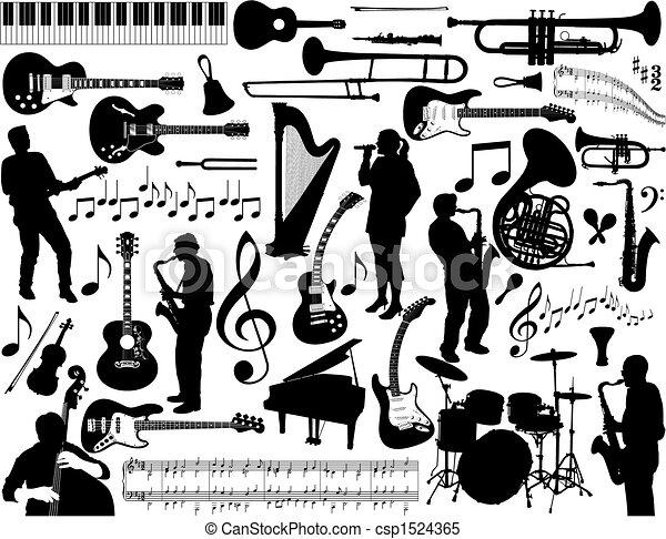 música, elements. - csp1524365