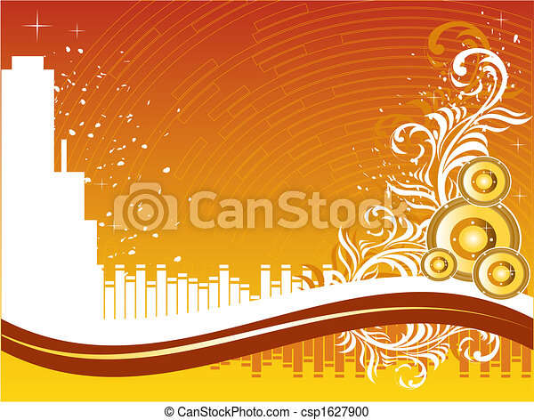 música, fundo - csp1627900