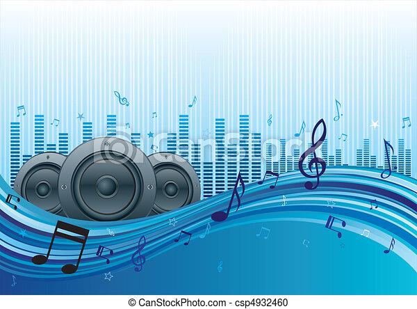 música, fundo - csp4932460
