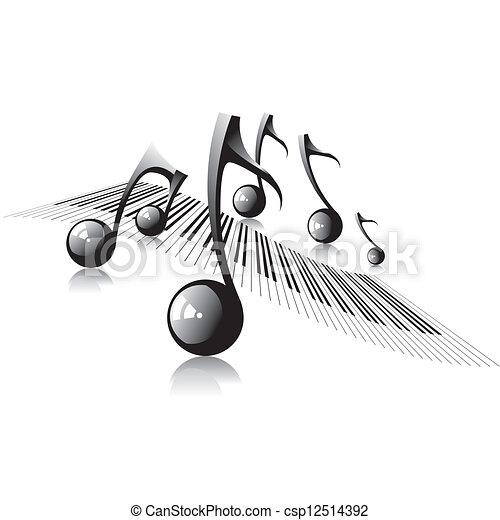 música, fundo - csp12514392