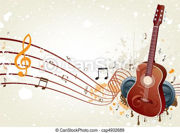 música, fundo - csp4932689