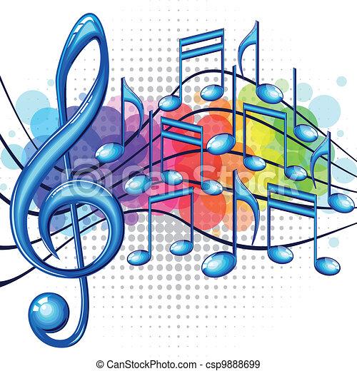 música, fundo - csp9888699