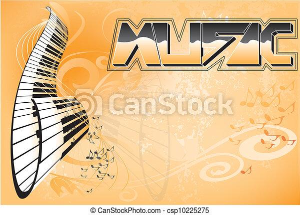 música, fundo - csp10225275
