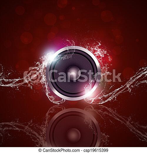 música, fundo, molhados - csp19615399