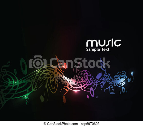 música, fundo, nota - csp6970603