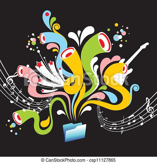 música, fundo - csp11127865