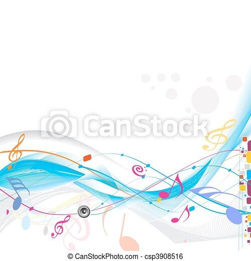 música, fundo - csp3908516