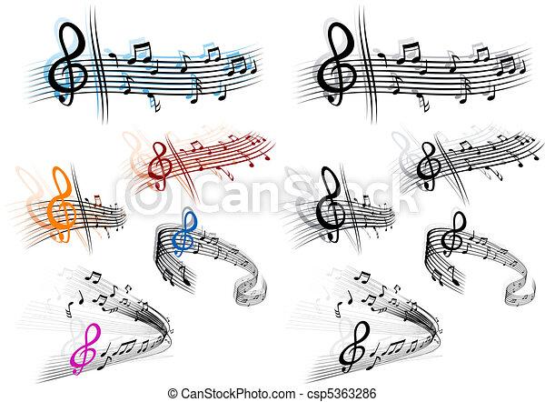música, fundo - csp5363286