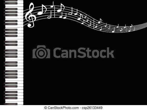 música, fundo - csp26133449