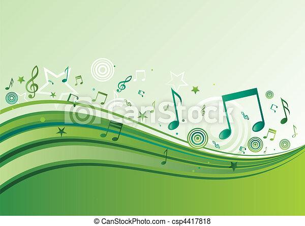 música, fundo - csp4417818