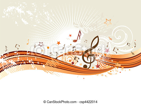 música, fundo - csp4422014
