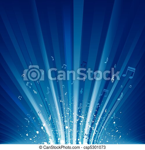 música, fundo - csp5301073