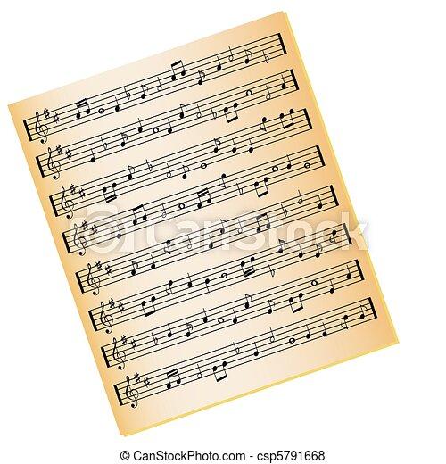 Música hoja. Color, música, papel, hoja, oro.