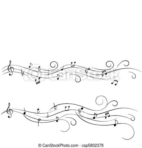 música hoja - csp5802378
