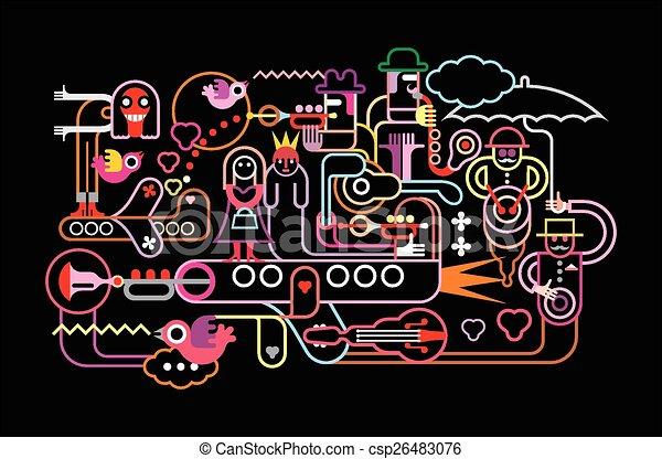 Ilustración de vectores del festival de música - csp26483076