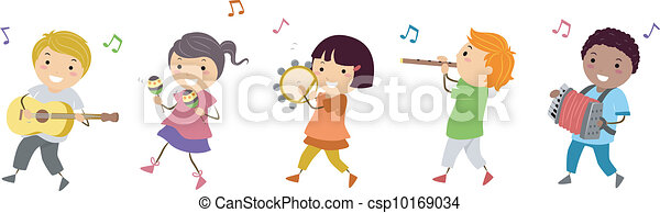 música, parada - csp10169034