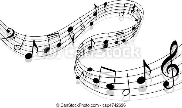 música, plano de fondo - csp4742636