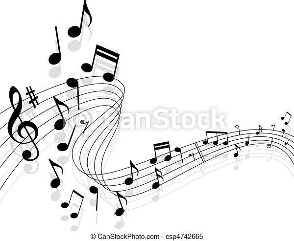 música, plano de fondo - csp4742665
