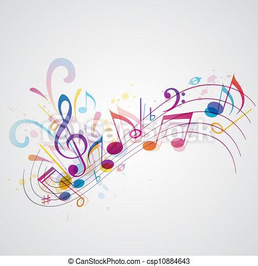 música, plano de fondo - csp10884643