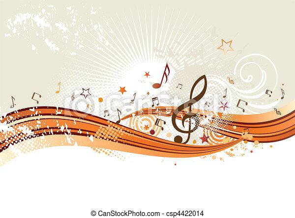 música, plano de fondo - csp4422014