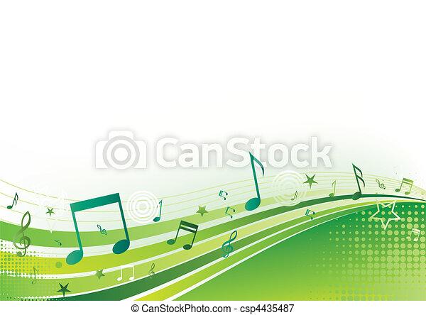 música, plano de fondo - csp4435487