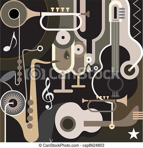 Fondo musical: vector abstracto - csp8624803