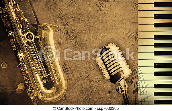 música, sujo, fundo - csp7680305