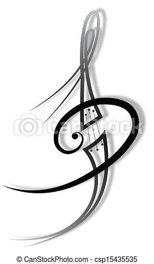 música, tatuagem - csp15435535