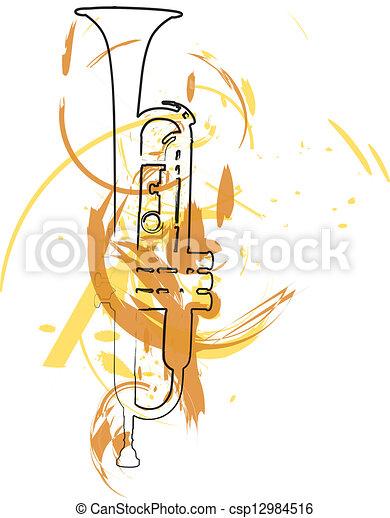 Un instrumento musical. Ilustración de vectores - csp12984516