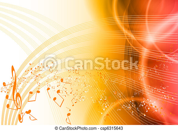 música, vermelho - csp6315643
