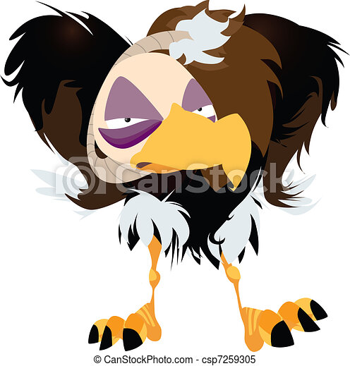 Grumpy Vulture Vektor Illustration - csp7259305