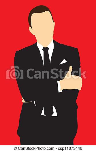 mężczyźni, garnitur, sylwetka - csp11073440