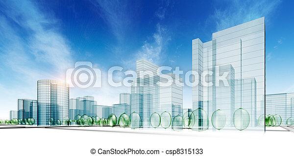 město, abstraktní - csp8315133