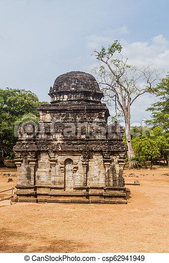 město, lan, starobylý, ne, polonnaruwa, sri, shiva, 2, devale, troska - csp62941949