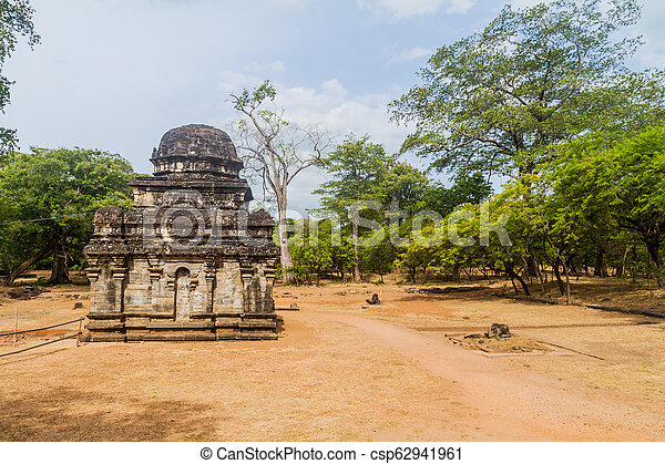 město, lan, starobylý, ne, polonnaruwa, sri, shiva, 2, devale, troska - csp62941961