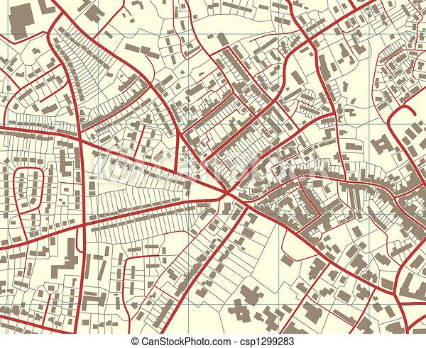 město, mapa - csp1299283