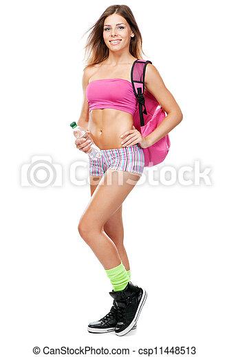 młody, lekkoatletyka, sprzęt, atak, kobieta - csp11448513