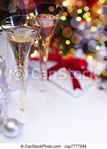 művészet, karácsonyi üdvözlőlap, köszönés - csp7777594