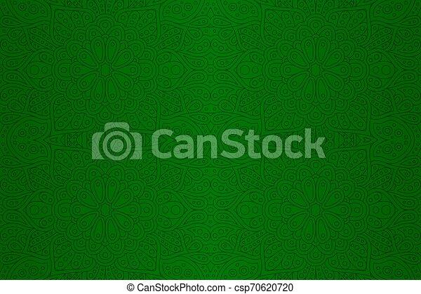 művészet, lineáris, motívum, elvont, seamless, zöld - csp70620720