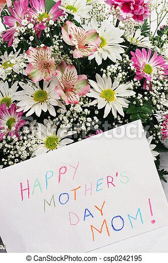 m, día, mother\\\'s, feliz - csp0242195