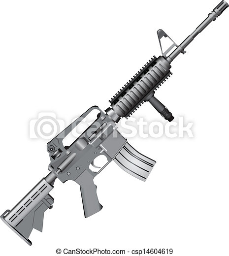 m4 carbine. m4 carbine is armed with the u.s. army. vector illustration. |  canstock  can stock photo